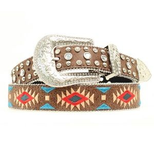 NWT Blazin Roxx Southwest Stitch diamond belt XL